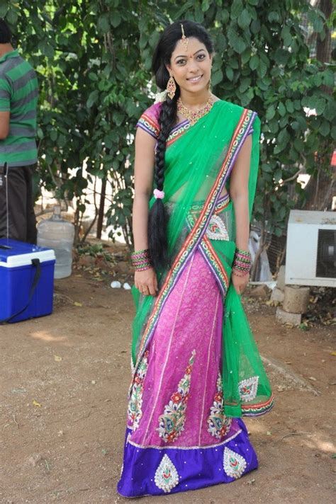 anjali rao in half saree things to wear sarees in 2019 half saree saree indian dresses