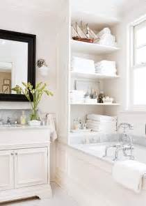 Built In Shelves In Bathroom by 25 Best Ideas About Bathtub Storage On Pinterest Clever