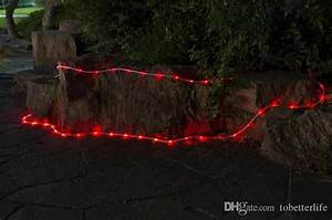 Solar Powered Led Tube String Lights Lanscape Holiday