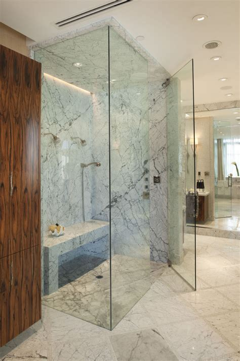 stand alone showers Bathroom Contemporary with Bath