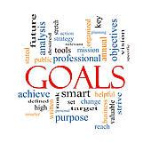 Stock Illustration Of Goals Word Cloud Concept K12443807