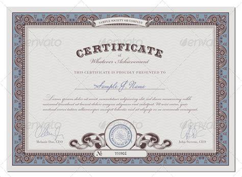 sample blank certificate templates   sample