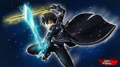 Kirito Sword Sao Dual Anime Wallpapers Pantalla