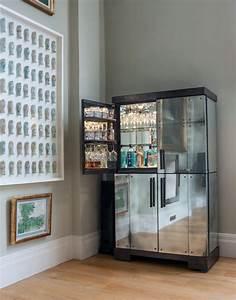 Antiqued Mirror Clad Drinks Cabinet