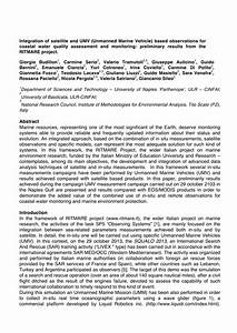 (PDF) Integration of satellite and UMV (Unmanned Marine ...