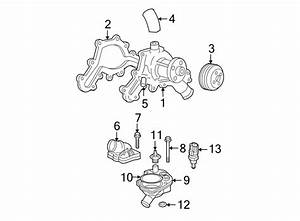2002 Ford Explorer Thermostat  Seal  Housing  Gasket