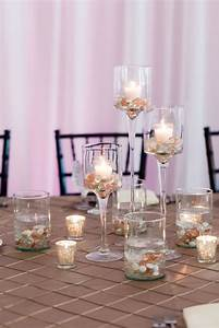 Tiered, Tealight, Candle, Centerpiece, With, Colored, Stones