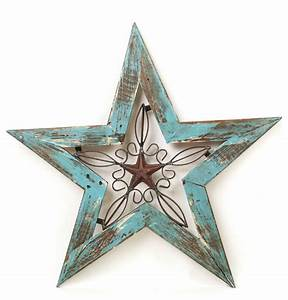 Wood and Iron Texas Star - Rustic - Wall Decor - by