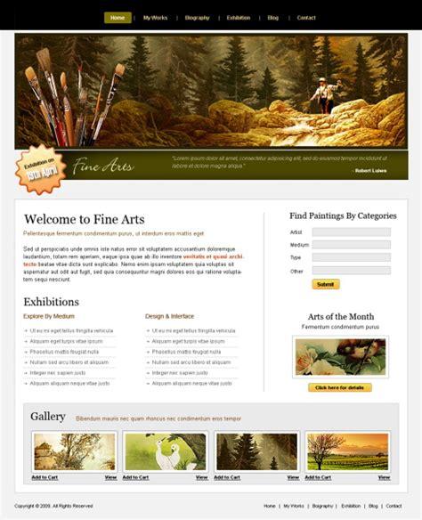 fine arts webpage template  art photography
