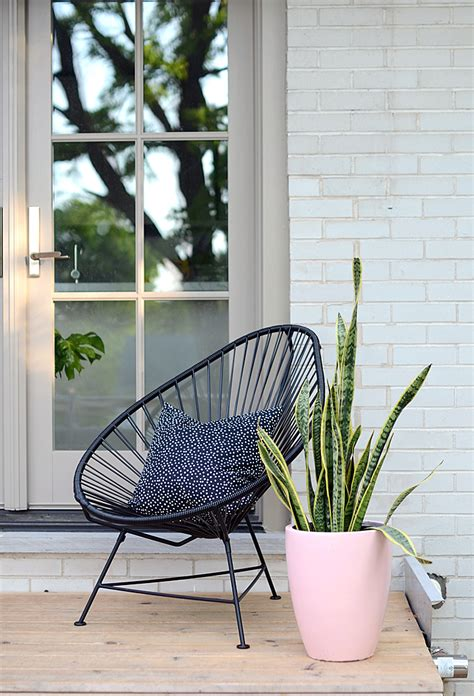 Small Porch Chairs by Nalle S House Diy Modern Pink Planter