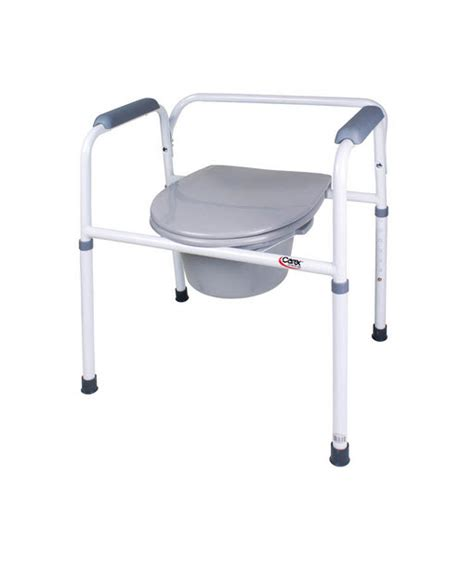 bedside steel commode  removable