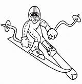 Coloring Pages Skiing Downhill Sheets Olympics Winter Skier Olympic Sport Colouring Sports Medal Printactivities Gold Activities Games Crayon Win Trying sketch template