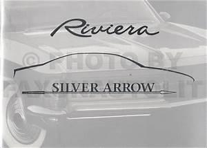 1995 Olds Aurora Buick Riviera Repair Shop Manual Original