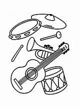 Instruments Coloring Musical Instrument Printable Tambourine Krokotak Tuba Drum Guitar Bright Colors Favorite Mycoloring sketch template