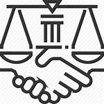 Law Icon Business Justice Agreement Icons Trade