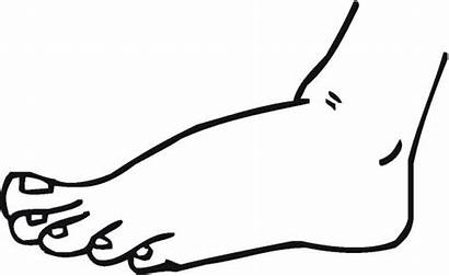 Coloring Feet Pages Hands Printable Foot Colouring