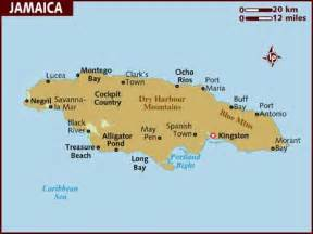 Map of Jamaica Jamaica