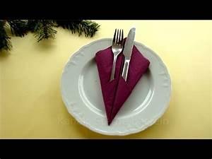 Servietten Falten Ostern Tischdeko : servietten falten einfach bestecktasche falten diy tischdeko weihnachtsdeko youtube ~ Eleganceandgraceweddings.com Haus und Dekorationen