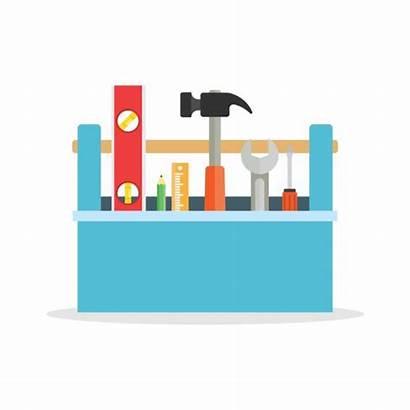 Toolbox Tools Vector Clip Tool Illustrations Graphics
