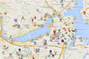 pokemon go maps puter