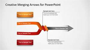 Converging  U0026 Merging Arrow Diagrams For Powerpoint