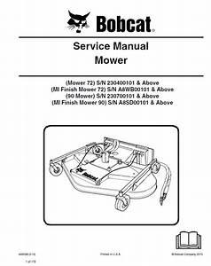 Bobcat 72  90 Mowers Service Manual Pdf