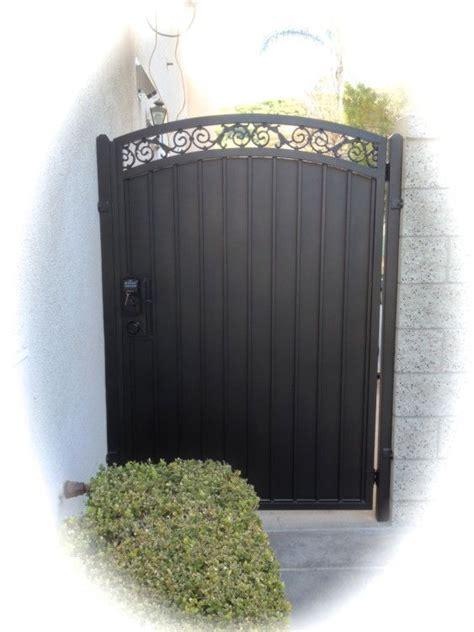 iron gate straight top fancy scroll sheet metal iron garden gates fence gate design metal