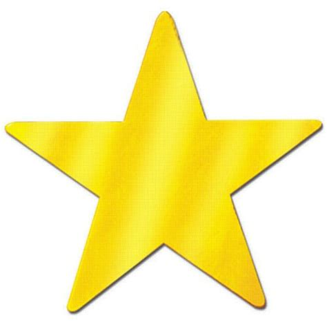 Gold Star Cutouts 15""