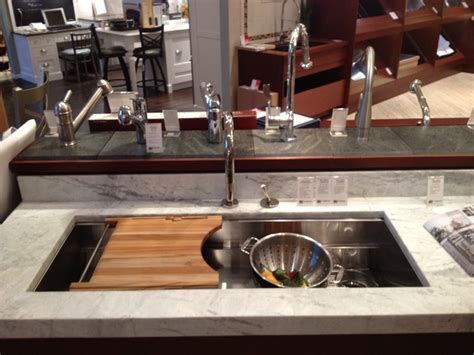 kitchen sink cutting board kitchen sink with cutting board and strainer ledges2 jpg 5692