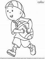 Caillou Coloring Pages Cartoons Football Drawing Printable Reef Coral Coloringlibrary Cartoon Colouring Fun Children Sheets Easter Activities Colors Friends Sketch sketch template