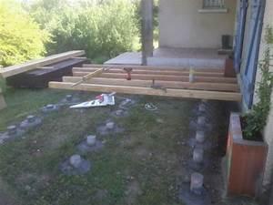 nivremcom terrasse bois plot beton pvc diverses idees With terrasse sur plot pvc