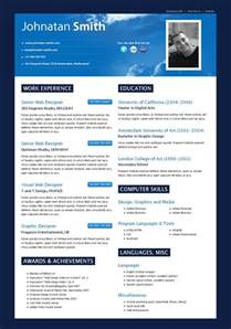 modern looking resume template modern resume search resumes designs