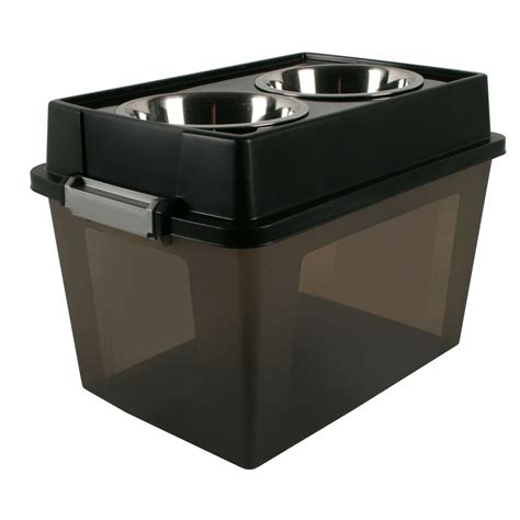 Elevated Feeders by Iris Large Elevated Feeder With Airtight Food Storage
