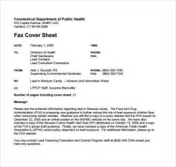 Confidential Cover Sheet Template Sle Fax Cover Sheet Template 9 Free Documents In Pdf