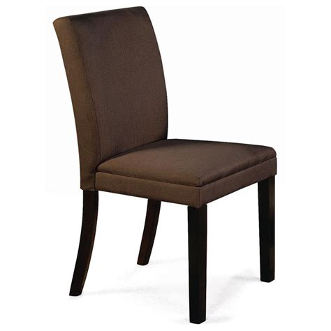 carrick side chair hardwood legs brown microfiber dcg