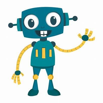 Robot Clipart Happy Transparent Clip Cartoon Svg