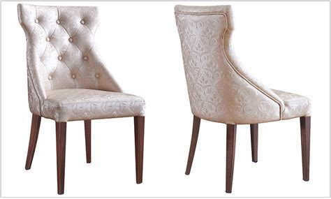 hote sale hotel upholstered dining room chair wood look