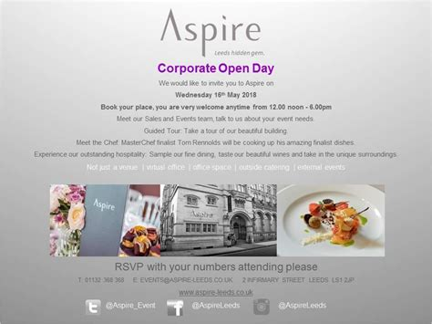 Corporate Open Day - Event - Leeds - West Yorkshire ...