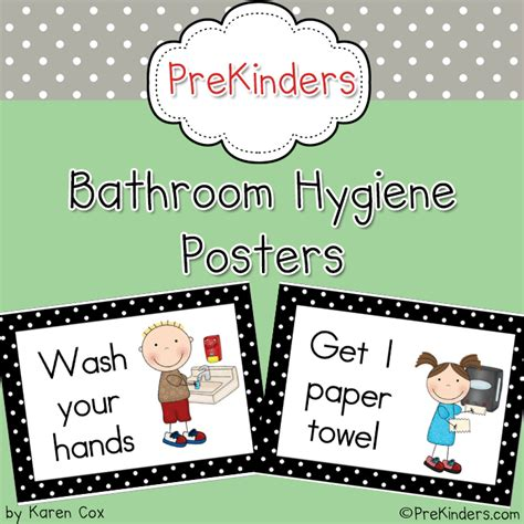 bathroom hygiene posters preschoolspot education