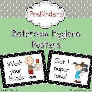 Printable bathroom hygiene posters for pre k and preschool for Bathroom signs for classroom