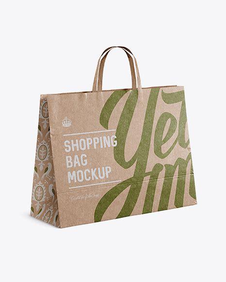 The biggest source of free photorealistic bag mockups online! Kraft Paper Shopping Bag Mockup - Halfside View PSD ...