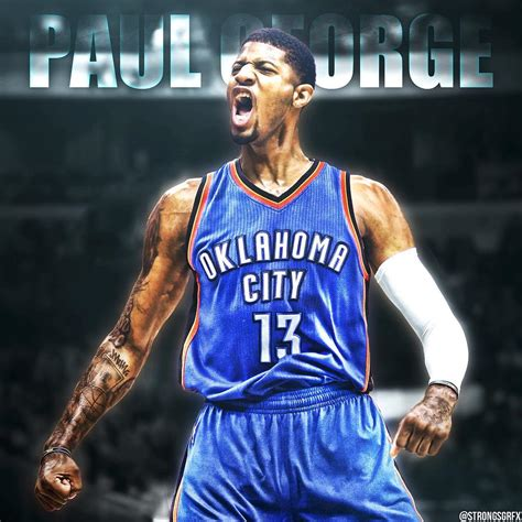 paul george oklahoma city thunder wallpapers wallpaper cave
