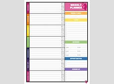 Free Colorful Planner Pages Best Loving Printable