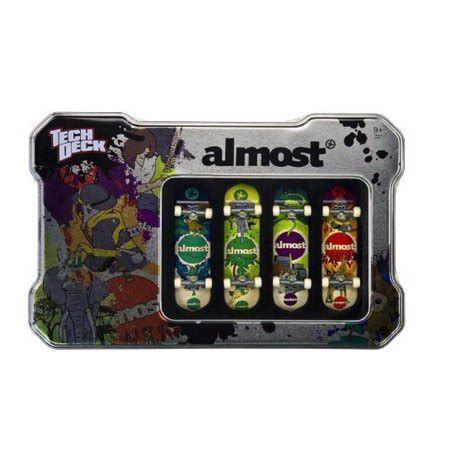 Tech Deck Tin With 4 Almost Brand Boards Walmartcom