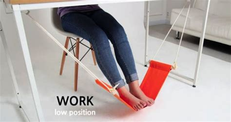 under desk foot stool work in your office like a boss with this foot hammock