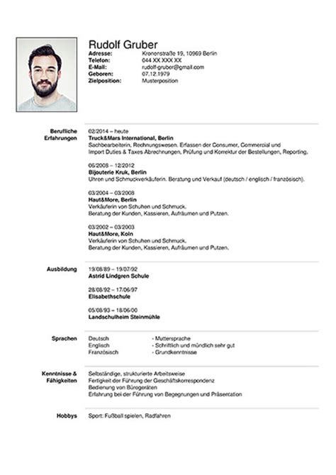 German Resume Template by Curriculum Vitae Resume Template Sle German Austria