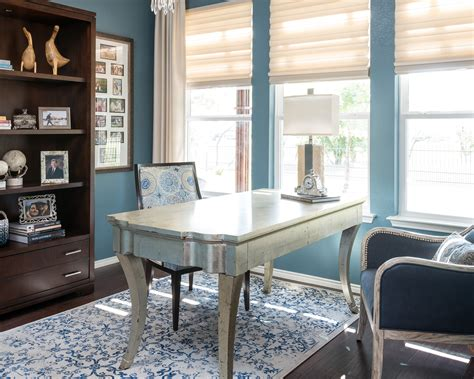 A Cozy & Elegant Home Office - CPI Interiors