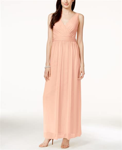 papell draped gown papell by chiffon draped sleeveless gown