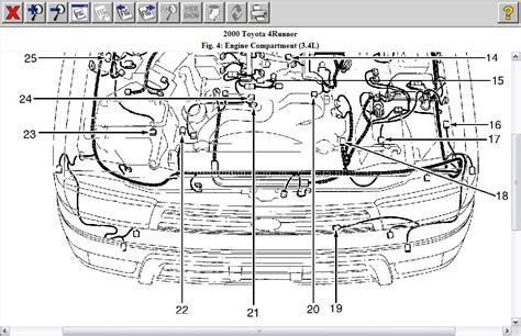 2001 4runner 3 4l Engine Diagram by 2000 Toyota 4runner Engine Diagram Automotive Parts