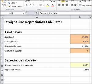 straight line depreciation calculator double entry With straight line depreciation template